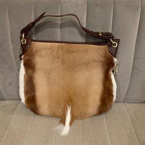 Wilsons leather deer skin/leather hobo handbag